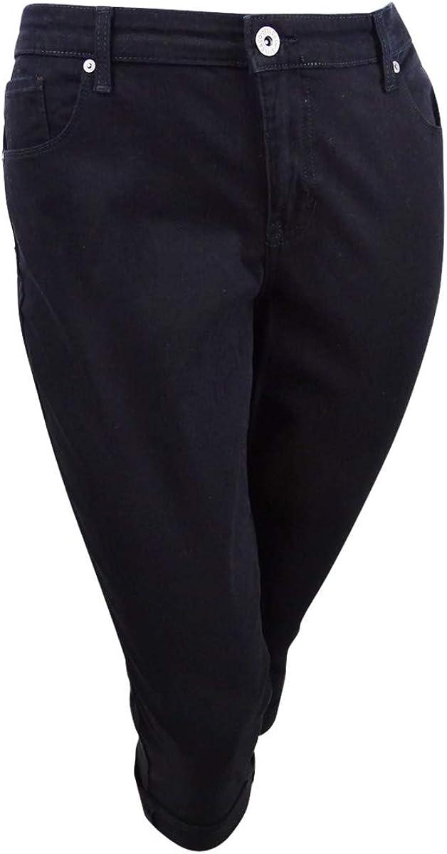 Style & Co. Womens Plus Denim Mid-Rise Capri Jeans