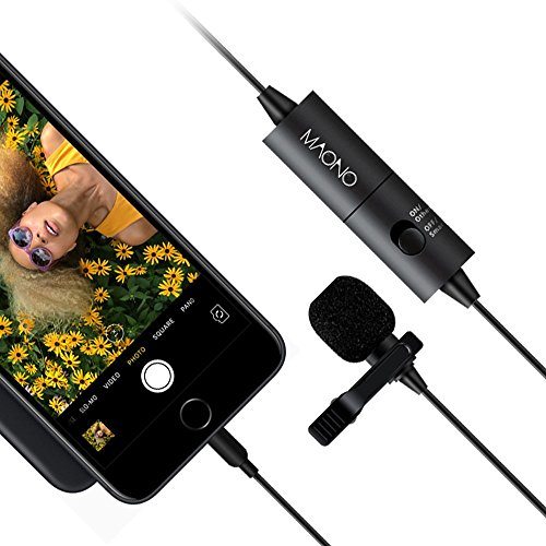 Lavalier Microphone, MAONO AU100 Hands Free Clip-on Lapel Mic with Omnidirectional Condenser for Podcast, Recording, DSLR,Camera,iPhone,Android,Samsung,Sony,PC,Laptop (236 in) by MAONO (Image #7)