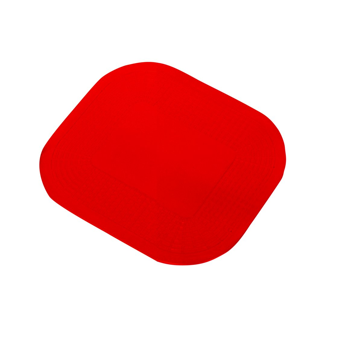 Dycem Non-Slip Pads & Activity Pads, Red, 10'' x 7-1/4'' x 1/8'', Rectangle - Textured