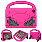 All New F i r e 7 2017 case, F i r e 7 2015 case - Roasan Light Weight Shockproof Handle Kid –Proof Cover Kids Case for A m a z o n K i n d l e F i r e 7 Tablet (2017&2015 Release) (Pink)