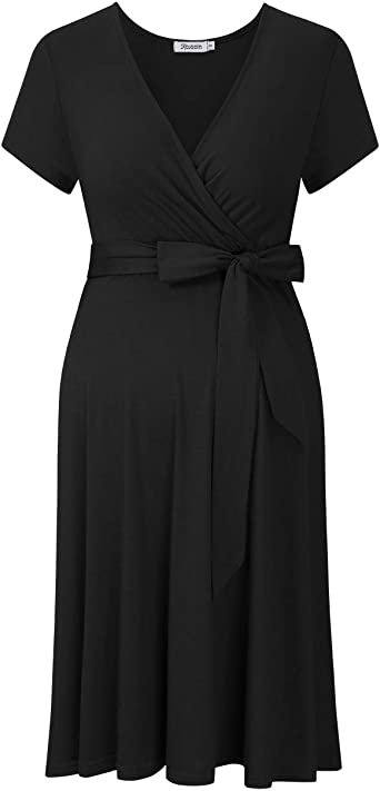 KOJOOIN Womens Maternity Dress Nursing Dress Pregnancy Dress A-line V-Neck Sommer Dress