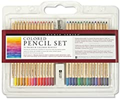 Create luminous drawings with this deluxe Studio Series Colored Pencil Set! Premium colored pencils have soft-core leads for superb color laydown and smooth and easy shading and blending. Let these premium pigments bring your drawings to life...
