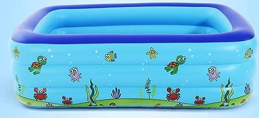 Swim Center Family Lounge Piscina Infantil Hinchable Rectangular, para niños, Adultos, Familiares, Patio Trasero, Interior y Exterior con Tela 148 * 108 * 50 con Bomba eléctrica: Amazon.es: Jardín