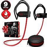 [Newest 2020] Villain X6 Bluetooth 5.0 Wireless Earbuds - aptX HiFi Sound & Clear Thumping Bass - Best Headphones for Sport, Running, Gym, Workout - IPX7 Waterproof Earphones with Microphone