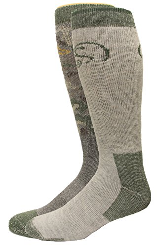 Blend Boot Sock (Ducks Unlimited Men's Heavyweight Full Cushion Wool Blend Boot Socks, Camo/Olive, Large)