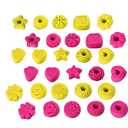 Silica Gel Cake Mould Cupcake Muffin Cups Baking Cups ()