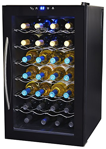 NewAir AW-280E Refrigerator, 28 Bottle Freestanding Chiller Fridge Wine Cooler...