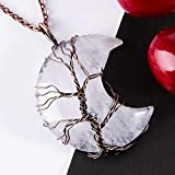 Bivei Tree of Life Crescent Moon Necklace Copper