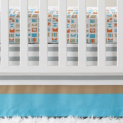 - Serena and Lily Nautical Flag Crib Skirt by Serena and Lily