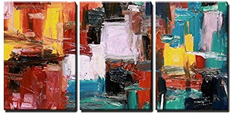 Wall26 3 Piece Canvas Wall Art Abstract Painting Modern Home Art Stretched And Framed Ready To Hang 24 X36 X3 Panels Posters Prints