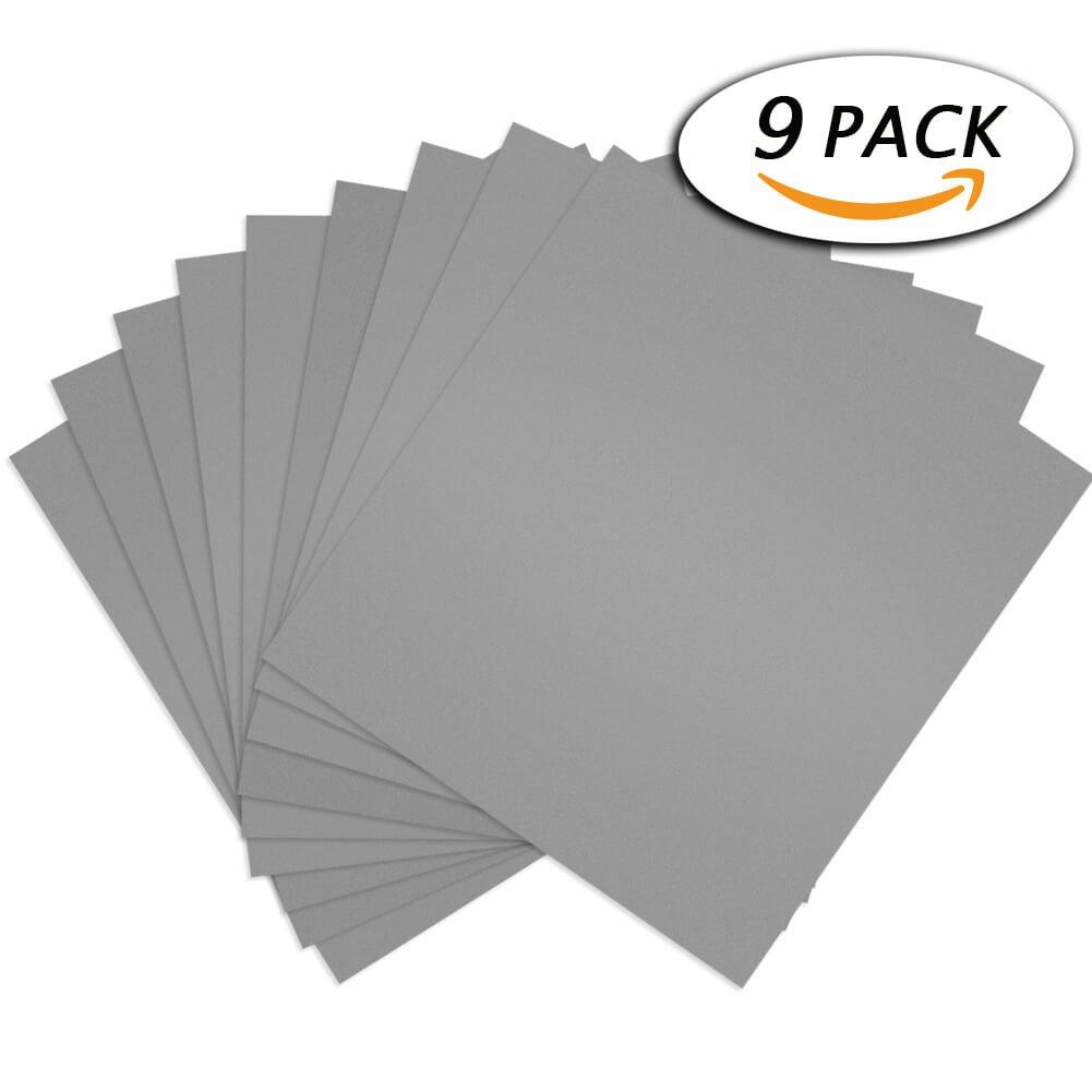Paxcoo 9 pcs 3000 5000 7000 haute Grain humide et sec Assortiment de papier abrasif Cerixo