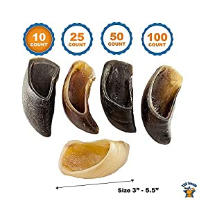 123 Treats Smoked Flavored Cow Hooves Chews for Dogs | 100% Natural Dog Dental Treats | Beef Hoof from 4