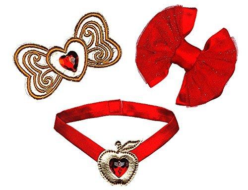 Bow Jeweled Pet Collar - Build a Bear Disney Palace Pets Berry Bunny Red Jeweled Gem 3 pc. Princess Accessory Set