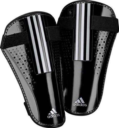 adidas Nova Lite Shin Guard (Black, Metallic Silver, Small)
