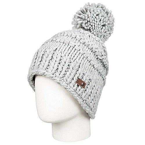 Roxy SNOW Women's Winter Pom Pom Beanie, Mid Heather Grey, One Size