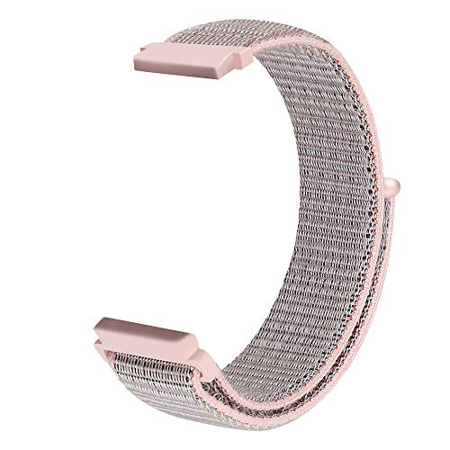 Price comparison product image HighlifeS Replacement Nylon Bracelet Watch Band Wrist Strap for Samsung Galaxy Watch 42mm / 46mm (Pink,  42mm)