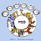 The Exodus From Egypt Hand Painted Glass Seder Plate