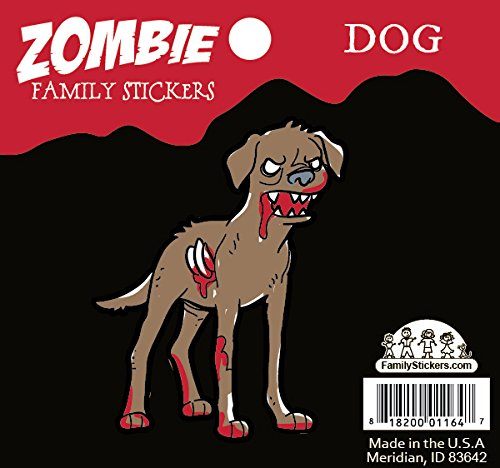 [Zombie Family Car Stickers Vinyl Auto Decal, Dog] (Zombie Family Decals)