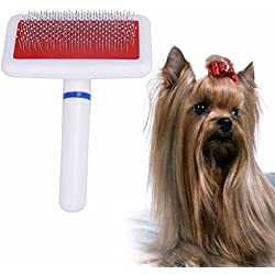 Cat Brush For Shedding - Cat Brush - Dog Hair Brush - Practical Pet Dog Needle Comb for Dog Cat Gilling Brush Dog Rake Comb Quick Cleaning Brush Pet Grooming Tool - Short Hair Dog Brush