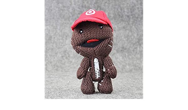Amazon.com: JEWH Little Big Planet Plush Toy - Sackboy Cuddly Knitted Stuffed Doll - Figure Toys Kids Gift (16CM) (Hat): Toys & Games