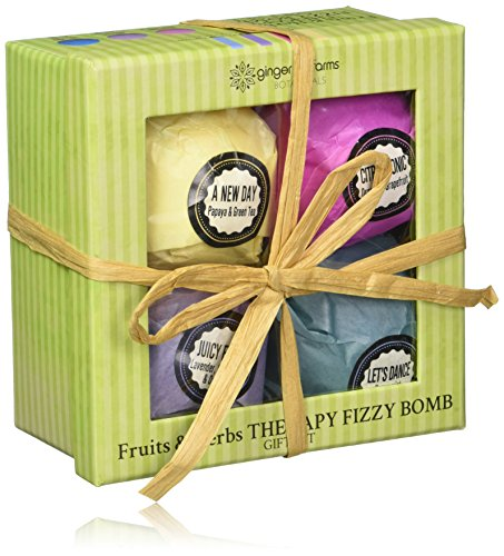 Ginger Lily Farms Botanicals Fruits & Herbs Therapy Fizzy Bomb Gift Set