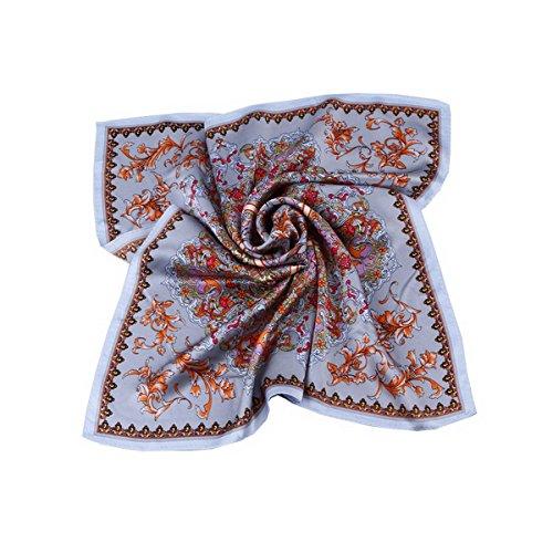 cuadrada de color o 55 bufanda de seda 5 de primavera la 55 para oto mujer Ahatech moda bufanda cm TYROcqY5