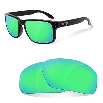 Fit&See Lentes de Recambio Polarizadas Sapphire Green para Oakley Holbrook