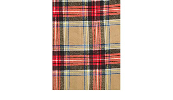 Nido Notte Italia Luxury Fringed Decorative Oversized Throw Blanket Toss Striped Plaid Crosshatch Houndstooth Pattern in Shades of Orange Brown Gray Taupe on White