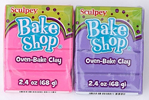 Sculpey Bake Shop Oven-Bake Clay Bundle - Pink and Purple (2.4 oz. (Shop Purple)