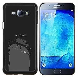 Stuss Case / Funda Carcasa protectora - Divertido del empollón del friki Mi Gafas - Samsung Galaxy A8 A8000