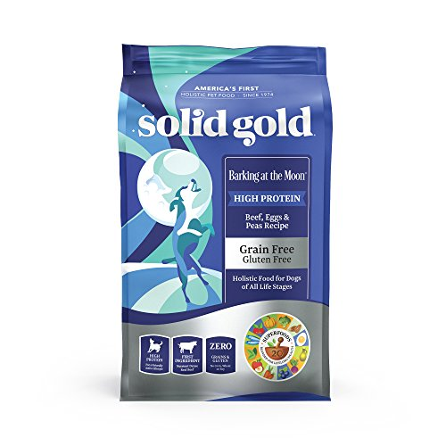 Solid Gold - Barking at The Moon with Real Beef - High-Protein - Grain-Free Dry Dog Food for All Life Stages - 24 lbs