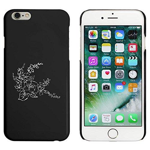 Noir 'Belles Fleurs' étui / housse pour iPhone 6 & 6s (MC00090442)