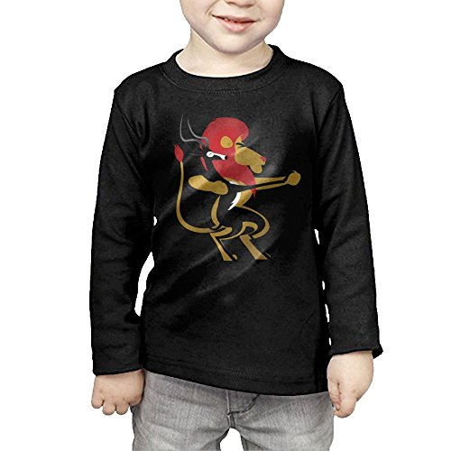 Long Sleeves Crew Neck Shirts Funny Lion Deer Couple Dancing for Girls' by Qiop Nee