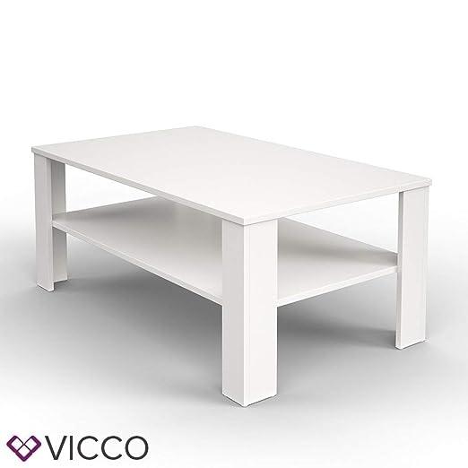 Vicco - Mesa de café (100 x 60 cm), Color Blanco: Amazon.es: Hogar