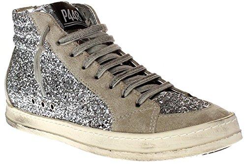 Glt Sneakers Silver Donna P448 Glitter Modello E7skatesilver pdrrqwxYE