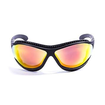 Ocean Sunglasses Tierra de Fuego - Gafas de Sol polarizadas - Montura : Negro Mate - Lentes : Amarillo Espejo (12201.0): Amazon.es: Deportes y aire libre
