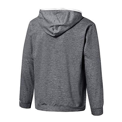 Homme Avec Sweat Capuche Foncé shirt Éclair Zippé Polaire Veste Uface Sweat Doublure En À Gris Pour Fermeture wx47qnz