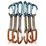Fusion Climb 6-Pack 11cm Quickdraw Set with Contigua Orange Wire Gate Carabiner/Contigue Blue Wire Gate Carabiner