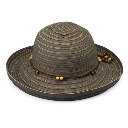 Wallaroo Hat Company Women's Breton Sun Hat - Chocolate - UPF 50+