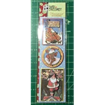 """Mary Engelbreit Pack of Christmas Craft Scrapbook Dimensional Stickers """"Magic of Christmas"""" """"Santa Claus & Baby"""" """"For Christmas Give Your Heart"""""""