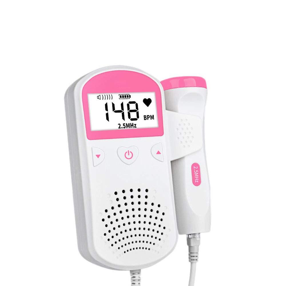 sicherer tragbarer h/örender Ger/äteschwangerer Doppler-pr/änataler Monitor 2.5MHz Haushaltsgesundheitspflege SHALU Fetaler Doppler-Baby-Herzschlag-Monitor ohne Strahlung