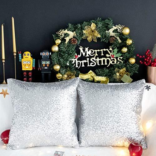 Kevin Textile Christmas Decorative Glitzy Sequin & Comfy Sat