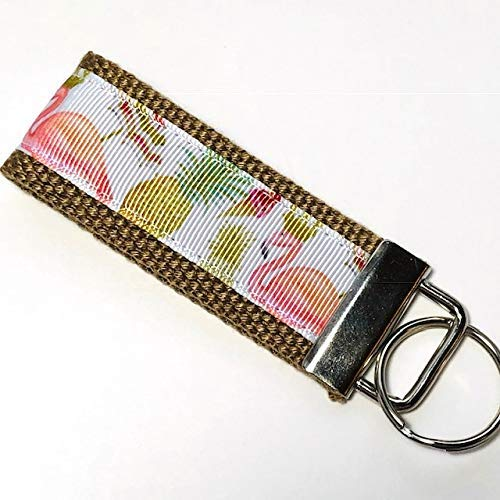 Tropical Key Fob Mini or Wristlet Key Chain