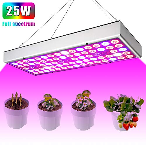 Plant Grow Light - Indoor Led Full Spectrum, LED Grow Lights for Indoor Plants Veg Flower Hydroponics Vegetables Seedlings and Greenhouse