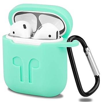 iBazal Funda AirPods Silicona Case Cover Carcasa Estuche Compatible con Apple AirPods 1 & 2 [Led Frontal no Visible] [Admite Carga Inalámbrica] ...