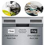 Black and White Wood Clean Dirty Dishwasher