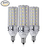 RFLY E12 LED Bulbs, 12W LED Candelabra bulb 100 Watt Equivalent, 1200lm, Decorative Candle Base E12 Non-Dimmable LED Chandelier Bulbs, Daylight White 5000K LED Lamp, Pack of 3