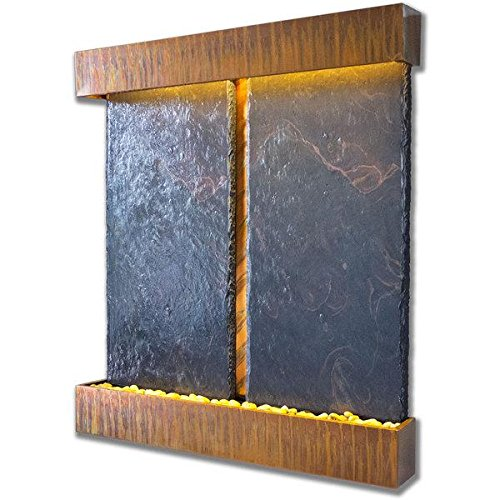 Nojoqui Falls Lightweight Double NSI Slate Fountain Shroud Finish Copper Patina ()
