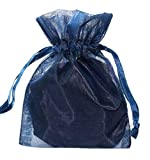 100pcs Navy Blue 5X7 Organza Drawstring Pouches Jewelry Party Wedding Favor Gift Bags
