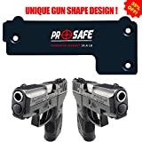 Gun Magnet Mount & Holster For Home & Vehicle -Upgrade To More Surface Area 35.8 Lbs- Concealed Magnetic Handgun Mount Holder -Firearm Accessory For Pistol, Rifle, Shotgun, Revolver, Car, Truck, Wall…